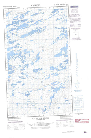 013K01E Mulligan River Canadian topographic map, 1:50,000 scale
