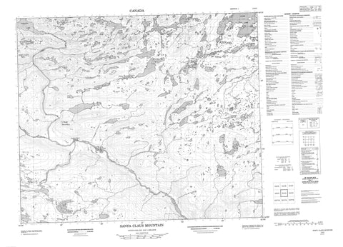 013K03 Santa Claus Mountain Canadian topographic map, 1:50,000 scale