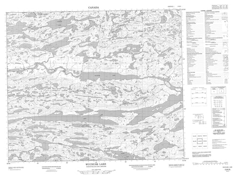 013K05 Wuchusk Lake Canadian topographic map, 1:50,000 scale