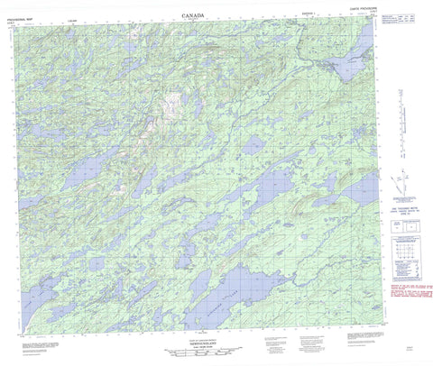 013K07 No Title Canadian topographic map, 1:50,000 scale