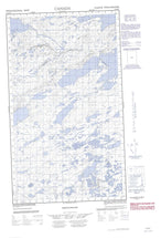 013K08W No Title Canadian topographic map, 1:50,000 scale from Newfoundland Map Store