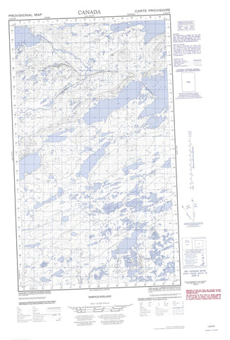 013K08W No Title Canadian topographic map, 1:50,000 scale