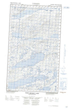013K09E West Micmac Lake Canadian topographic map, 1:50,000 scale from Newfoundland Map Store