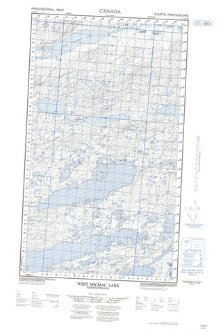 013K09E West Micmac Lake Canadian topographic map, 1:50,000 scale