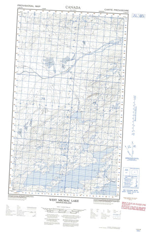 013K09W West Micmac Lake Canadian topographic map, 1:50,000 scale
