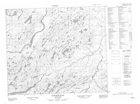013K10 Kaipokok River Canadian topographic map, 1:50,000 scale