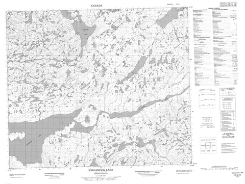 013K11 Snegamook Lake Canadian topographic map, 1:50,000 scale
