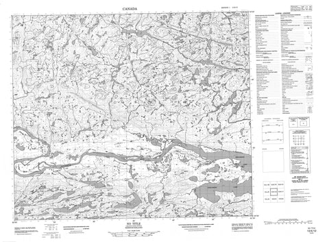 013K12 No Title Canadian topographic map, 1:50,000 scale