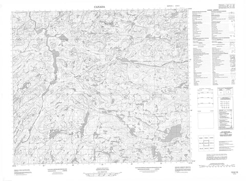 013K13 No Title Canadian topographic map, 1:50,000 scale