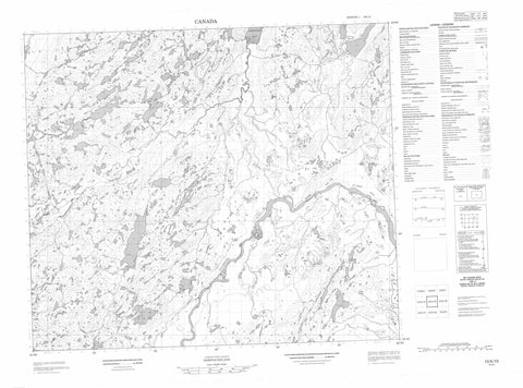 013K15 No Title Canadian topographic map, 1:50,000 scale