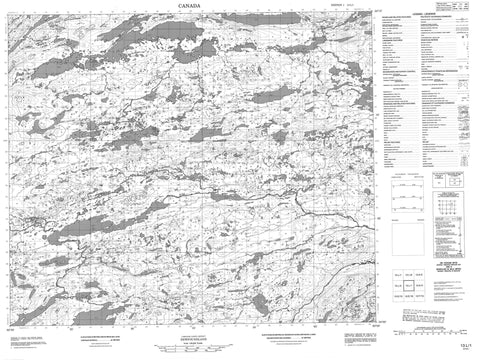 013L01 No Title Canadian topographic map, 1:50,000 scale