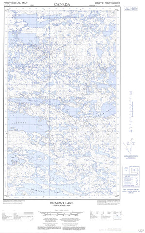 013L03E Fremont Lake Canadian topographic map, 1:50,000 scale