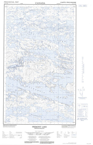 013L03W Fremont Lake Canadian topographic map, 1:50,000 scale