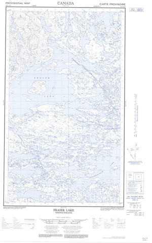 013L05E Fraser Lake Canadian topographic map, 1:50,000 scale