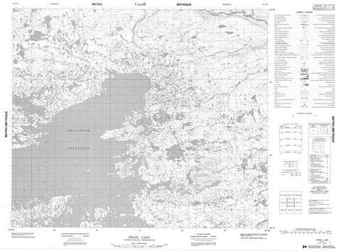 013L06 Proof Lake Canadian topographic map, 1:50,000 scale