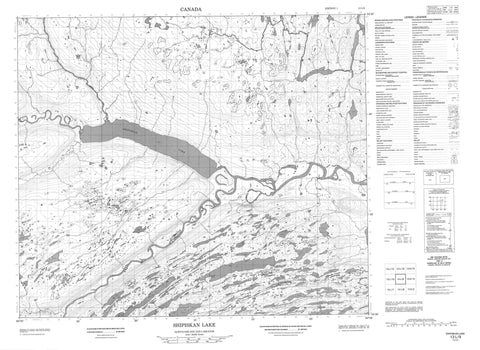 013L09 Shipiskan Lake Canadian topographic map, 1:50,000 scale