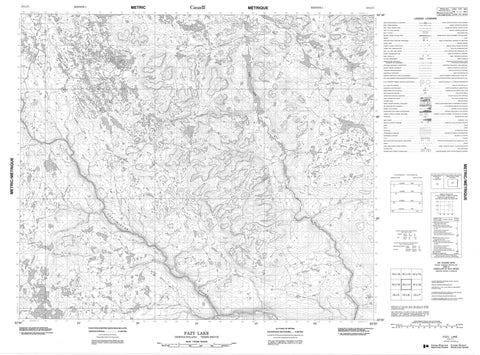013L11 Fazy Lake Canadian topographic map, 1:50,000 scale
