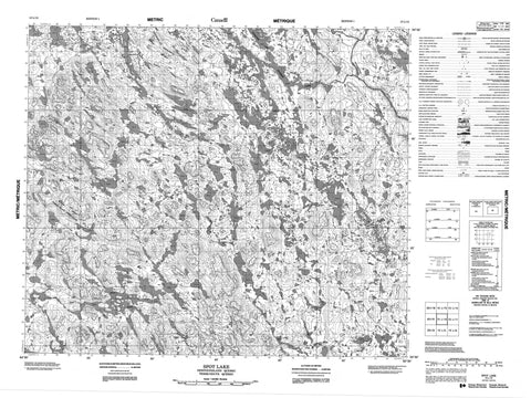 013L12 Spot Lake Canadian topographic map, 1:50,000 scale