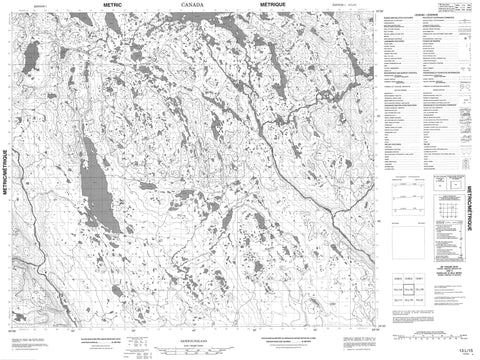 013L15 No Title Canadian topographic map, 1:50,000 scale
