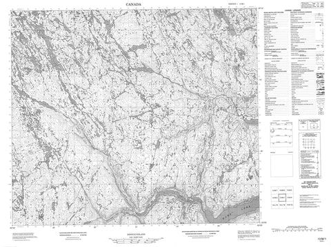 013M01 No Title Canadian topographic map, 1:50,000 scale