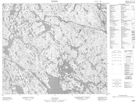 013M02 No Title Canadian topographic map, 1:50,000 scale
