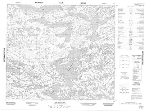 013M04 Lac Ramusio Canadian topographic map, 1:50,000 scale