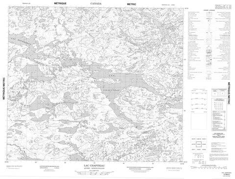 013M05 Lac Chapiteau Canadian topographic map, 1:50,000 scale