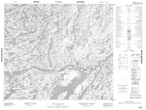013M06 No Title Canadian topographic map, 1:50,000 scale