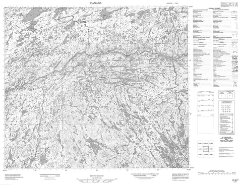 013M07 No Title Canadian topographic map, 1:50,000 scale