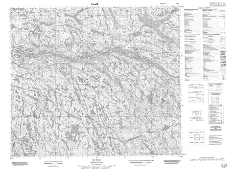 013M08 No Title Canadian topographic map, 1:50,000 scale