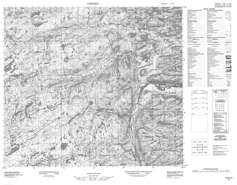 013M15 No Title Canadian topographic map, 1:50,000 scale