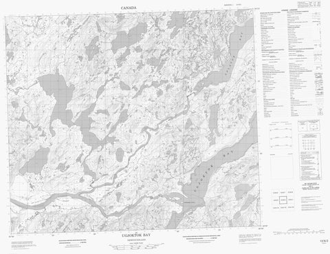 013N02 Ugjoktok Bay Canadian topographic map, 1:50,000 scale
