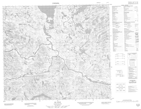 013N05 No Title Canadian topographic map, 1:50,000 scale