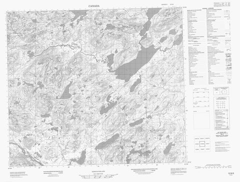 013N06 No Title Canadian topographic map, 1:50,000 scale