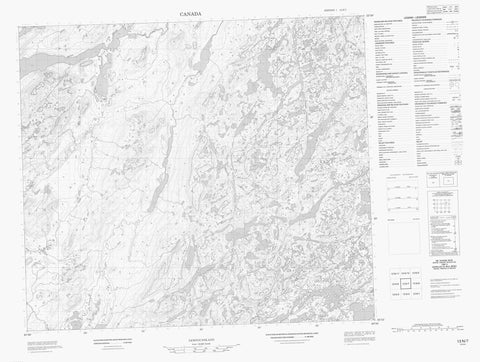 013N07 No Title Canadian topographic map, 1:50,000 scale