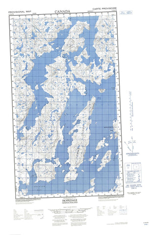 013N08W Hopedale Canadian topographic map, 1:50,000 scale