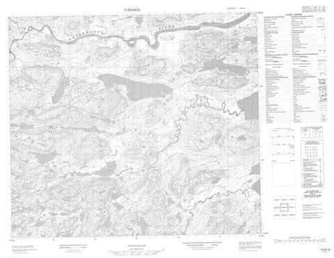 013N13 No Title Canadian topographic map, 1:50,000 scale