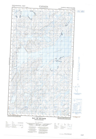 013O04W Bay Of Islands Canadian topographic map, 1:50,000 scale