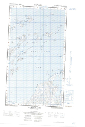 013O05W Double Islands Canadian topographic map, 1:50,000 scale