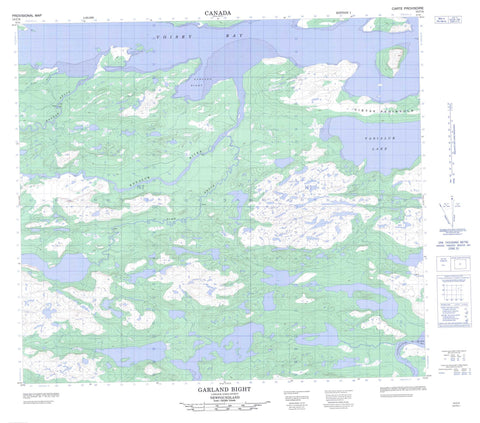 014C04 Garland Bight Canadian topographic map, 1:50,000 scale