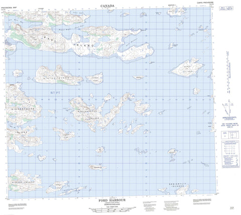 014C06 Ford Harbour Canadian topographic map, 1:50,000 scale