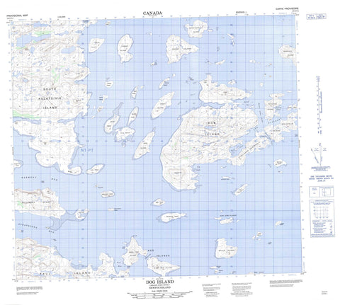 014C11 Dog Island Canadian topographic map, 1:50,000 scale