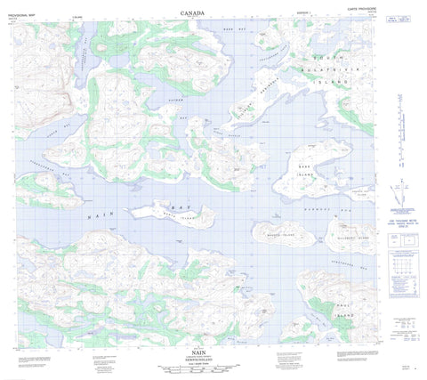 014C12 Nain Canadian topographic map, 1:50,000 scale