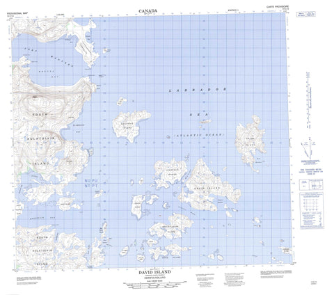 014C14 David Island Canadian topographic map, 1:50,000 scale