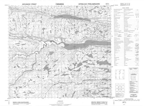 014D02 No Title Canadian topographic map, 1:50,000 scale