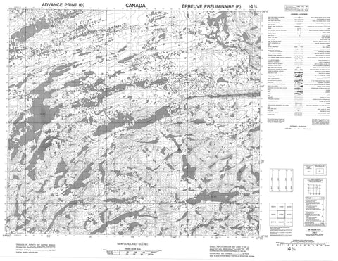 014D04 No Title Canadian topographic map, 1:50,000 scale