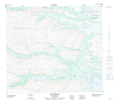 014D08 Reid Brook Canadian topographic map, 1:50,000 scale