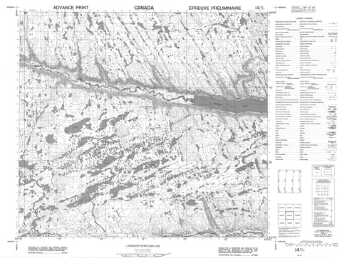 014D11 No Title Canadian topographic map, 1:50,000 scale