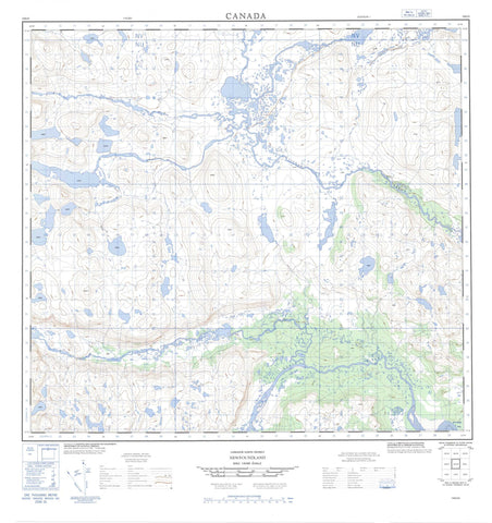 014E10 No Title Canadian topographic map, 1:50,000 scale
