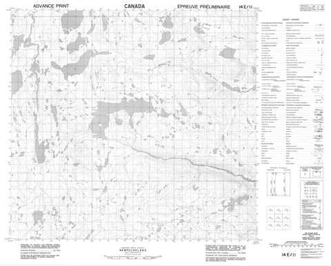 014E11 No Title Canadian topographic map, 1:50,000 scale